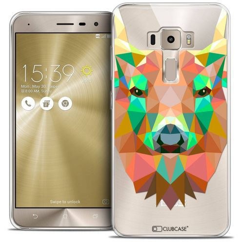 "Coque Crystal Gel Asus Zenfone 3 ZE520KL (5.2"") Extra Fine Polygon Animals - Cerf"