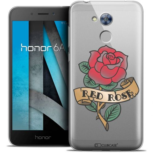 "Coque Crystal Gel Huawei Honor 6A (5"") Extra Fine Tatoo Lover - Red Rose"