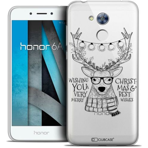 """Coque Crystal Gel Huawei Honor 6A (5"""") Extra Fine Noël 2017 - Cerf Hipster"""