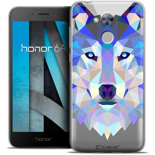 "Coque Crystal Gel Huawei Honor 6A (5"") Extra Fine Polygon Animals - Loup"