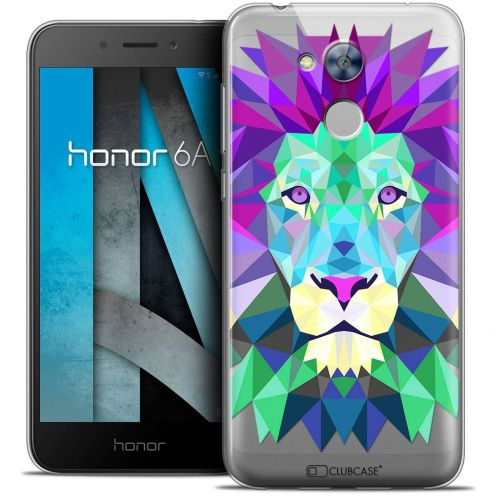 "Coque Crystal Gel Huawei Honor 6A (5"") Extra Fine Polygon Animals - Lion"