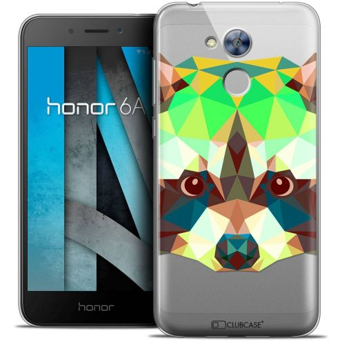 "Coque Crystal Gel Huawei Honor 6A (5"") Extra Fine Polygon Animals - Raton Laveur"