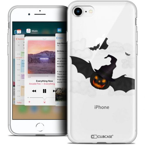 "Carcasa Crystal Gel Extra Fina Apple iPhone 8 (4.7"") Halloween Chauve Citrouille"