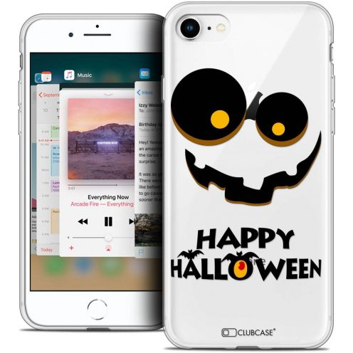 "Carcasa Crystal Gel Extra Fina Apple iPhone 8 (4.7"") Halloween Happy"