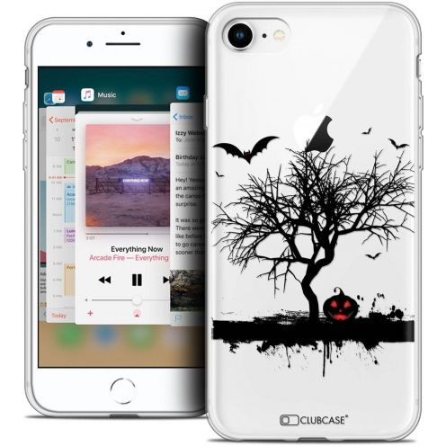 "Carcasa Crystal Gel Extra Fina Apple iPhone 8 (4.7"") Halloween Devil's Tree"