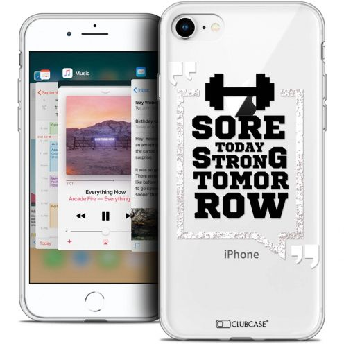 """Coque Crystal Gel Apple iPhone 8 (4.7"""") Extra Fine Quote - Strong Tomorrow"""
