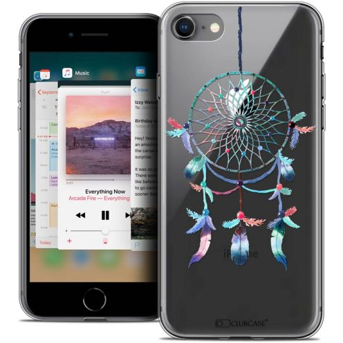 "Carcasa Crystal Gel Extra Fina Apple iPhone 8 (4.7"") Dreamy Attrape Rêves Rainbow"