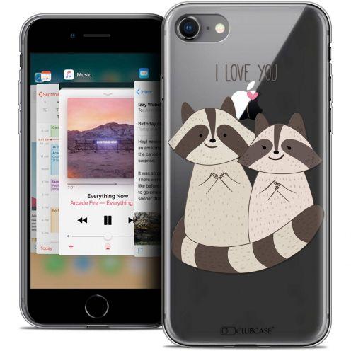 "Coque Crystal Gel Apple iPhone 8 (4.7"") Extra Fine Sweetie - Racoon Love"