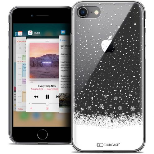 """Coque Crystal Gel Apple iPhone 8 (4.7"""") Extra Fine Noël 2017 - Flocons de Neige"""