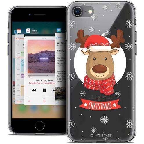 "Coque Crystal Gel Apple iPhone 8 (4.7"") Extra Fine Noël 2017 - Cerf à Echarpe"