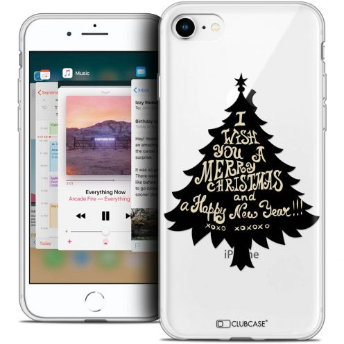 "Carcasa Crystal Gel Extra Fina Apple iPhone 8 (4.7"") Noël 2017 XOXO Tree"