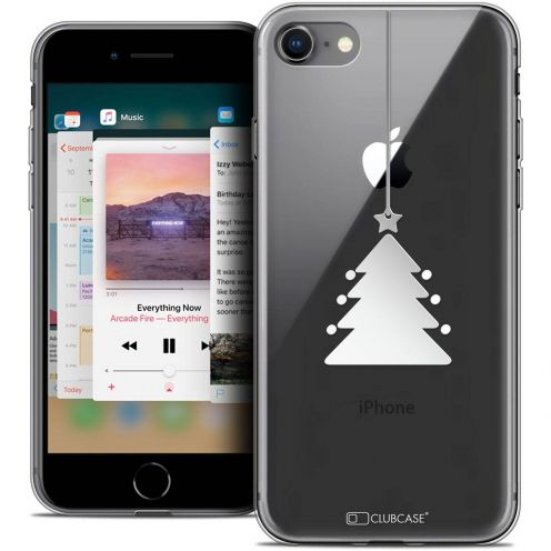 "Carcasa Crystal Gel Extra Fina Apple iPhone 8 (4.7"") Noël 2017 Petit Arbre"