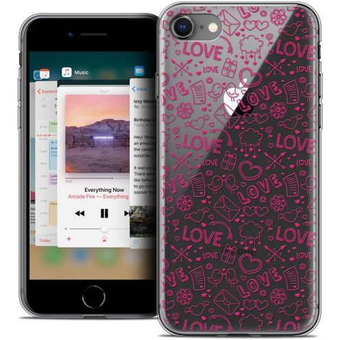 "Carcasa Crystal Gel Extra Fina Apple iPhone 8 (4.7"") Love Doodle"