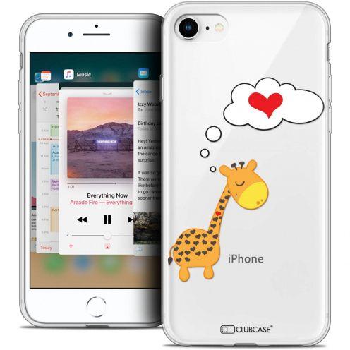 "Coque Crystal Gel Apple iPhone 8 (4.7"") Extra Fine Love - Girafe Amoureuse"