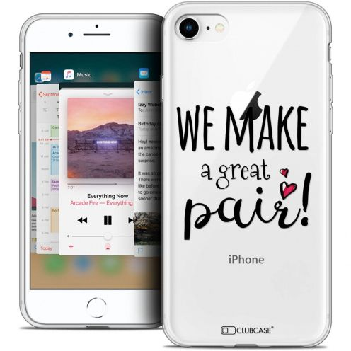 """Coque Crystal Gel Apple iPhone 8 (4.7"""") Extra Fine Love - We Make Great Pair"""