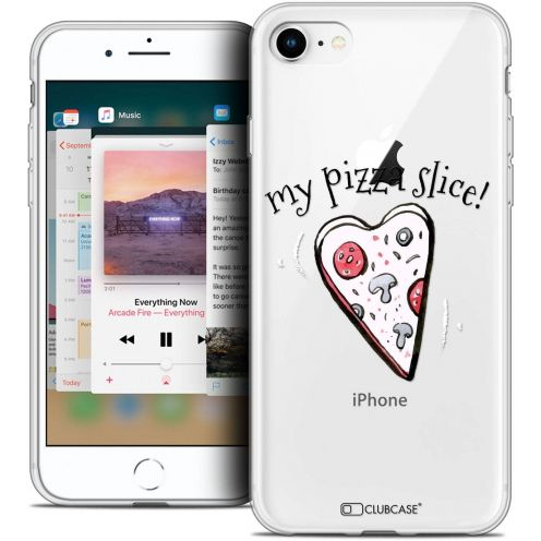 """Coque Crystal Gel Apple iPhone 8 (4.7"""") Extra Fine Love - My Pizza Slice"""
