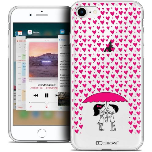 """Coque Crystal Gel Apple iPhone 8 (4.7"""") Extra Fine Love - Pluie d'Amour"""