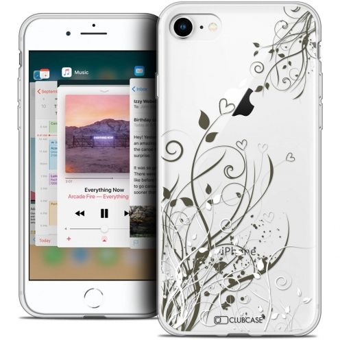 """Coque Crystal Gel Apple iPhone 8 (4.7"""") Extra Fine Love - Hearts Flowers"""