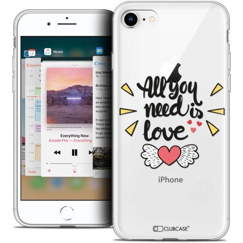 "Coque Crystal Gel Apple iPhone 8 (4.7"") Extra Fine Love - All U Need Is"