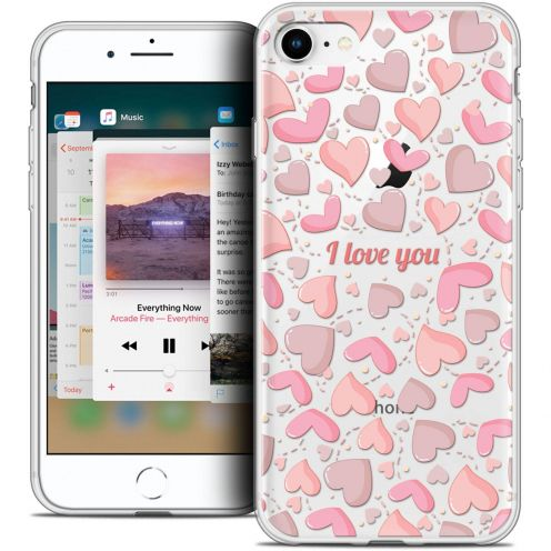 """Coque Crystal Gel Apple iPhone 8 (4.7"""") Extra Fine Love - I Love You"""