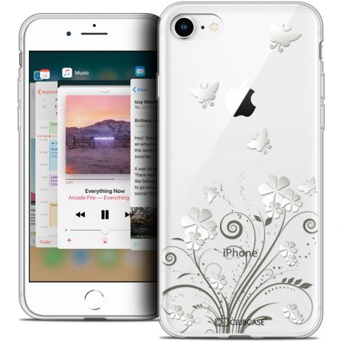 """Coque Crystal Gel Apple iPhone 8 (4.7"""") Extra Fine Summer - Papillons"""