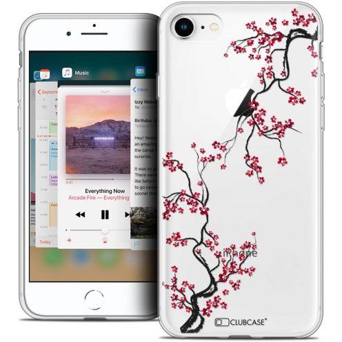 "Coque Crystal Gel Apple iPhone 8 (4.7"") Extra Fine Summer - Sakura"