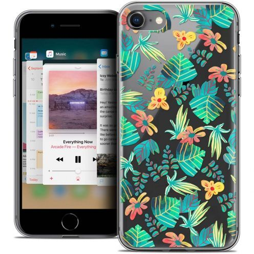 """Coque Crystal Gel Apple iPhone 8 (4.7"""") Extra Fine Spring - Tropical"""