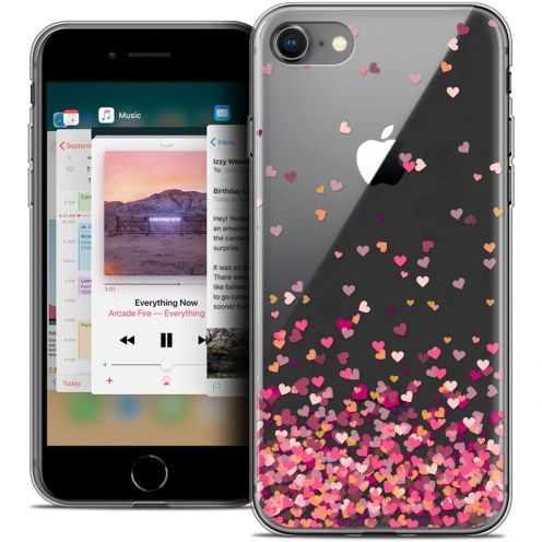 "Carcasa Crystal Gel Extra Fina Apple iPhone 8 (4.7"") Sweetie Heart Flakes"