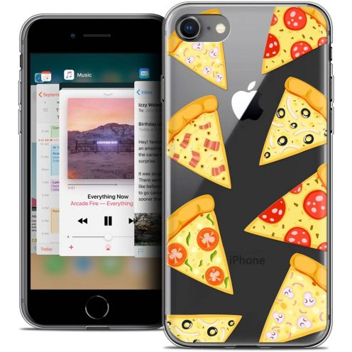 "Carcasa Crystal Gel Extra Fina Apple iPhone 8 (4.7"") Foodie Pizza"