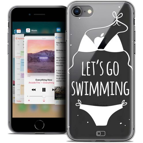 "Coque Crystal Gel Apple iPhone 8 (4.7"") Extra Fine Summer - Let's Go Swim"