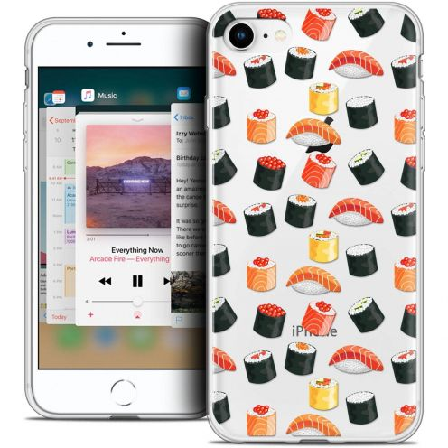 "Coque Crystal Gel Apple iPhone 8 (4.7"") Extra Fine Foodie - Sushi"