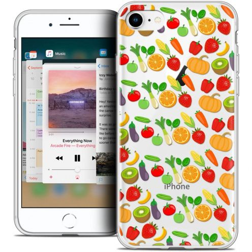 "Carcasa Crystal Gel Extra Fina Apple iPhone 8 (4.7"") Foodie Healthy"