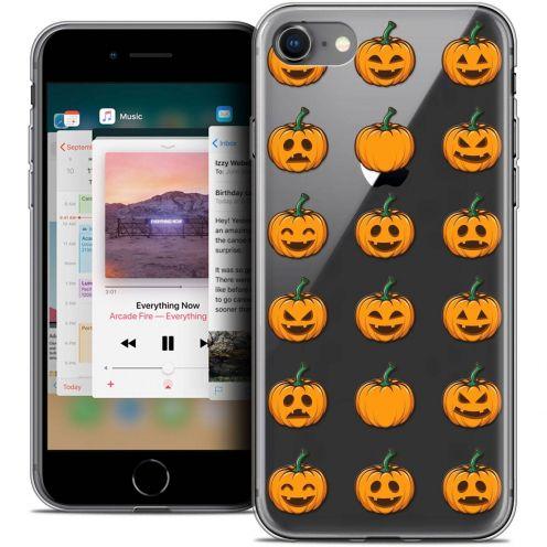 "Coque Crystal Gel Apple iPhone 8 (4.7"") Extra Fine Halloween - Smiley Citrouille"