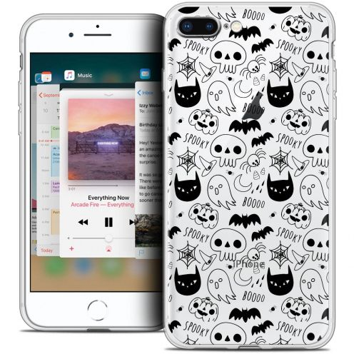 "Coque Crystal Gel Apple iPhone 8 Plus (5.5"") Extra Fine Halloween - Spooky"