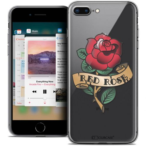 """Coque Crystal Gel Apple iPhone 8 Plus (5.5"""") Extra Fine Tatoo Lover - Red Rose"""