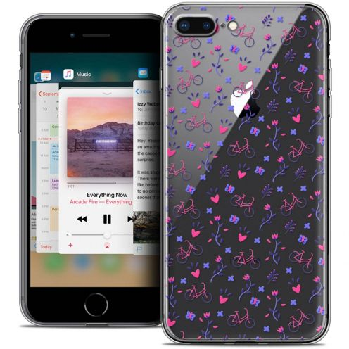 "Coque Crystal Gel Apple iPhone 8 Plus (5.5"") Extra Fine Love - Bicycle"