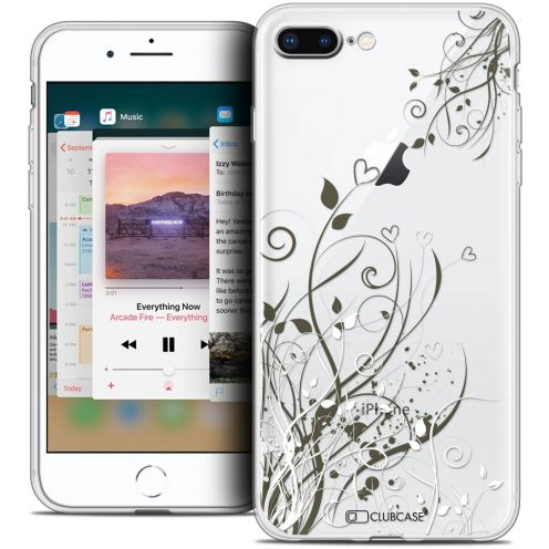 "Coque Crystal Gel Apple iPhone 8 Plus (5.5"") Extra Fine Love - Hearts Flowers"