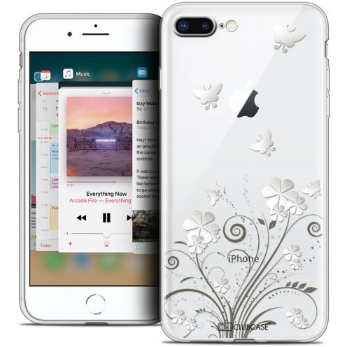 "Coque Crystal Gel Apple iPhone 8 Plus (5.5"") Extra Fine Summer - Papillons"