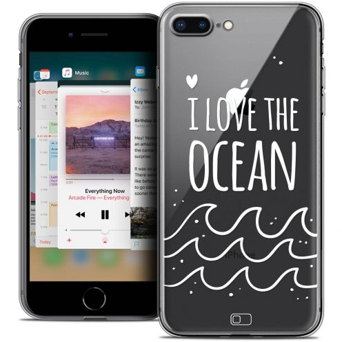 "Coque Crystal Gel Apple iPhone 8 Plus (5.5"") Extra Fine Summer - I Love Ocean"