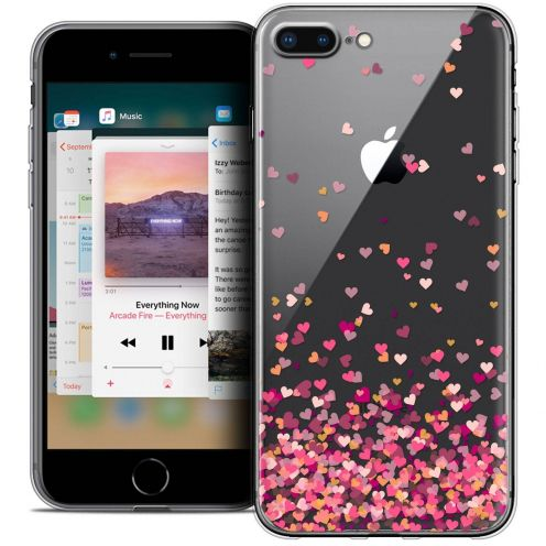 """Coque Crystal Gel Apple iPhone 8 Plus (5.5"""") Extra Fine Sweetie - Heart Flakes"""