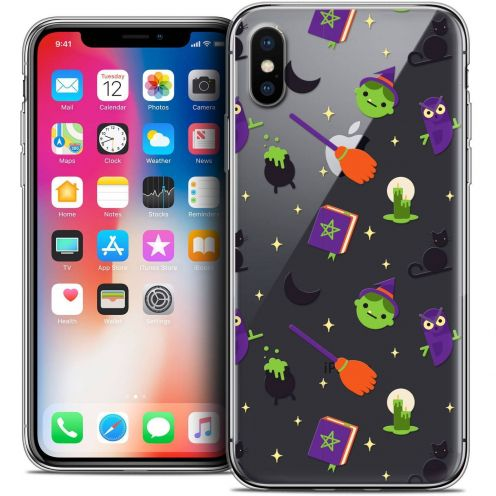 Carcasa Crystal Gel Extra Fina Apple iPhone X (10) Halloween Witch Potter