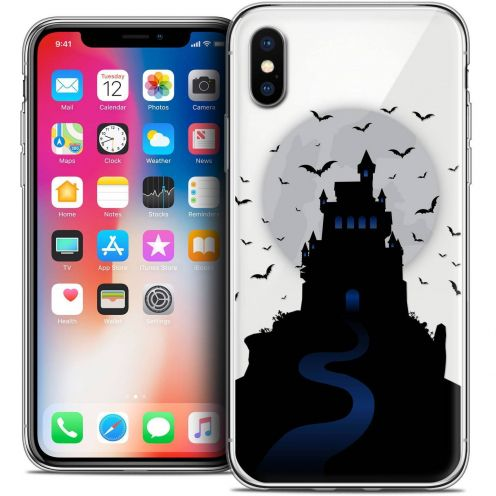 "Coque Crystal Gel Apple iPhone Xs / X (5.8"") Extra Fine Halloween - Castle Nightmare"