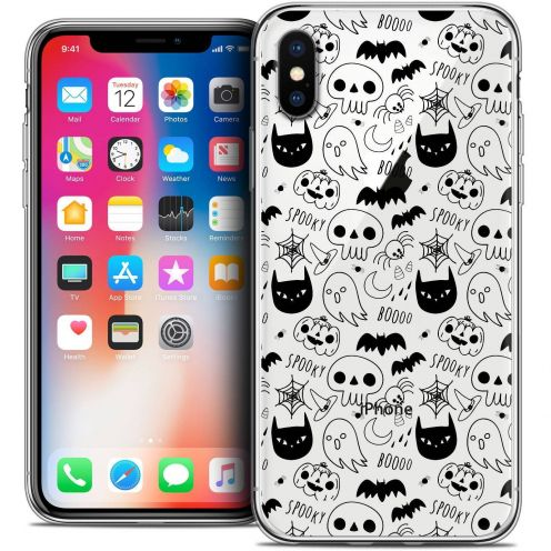 Carcasa Crystal Gel Extra Fina Apple iPhone X (10) Halloween Spooky