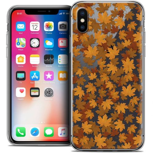 "Coque Crystal Gel Apple iPhone Xs / X (5.8"") Extra Fine Autumn 16 - Feuilles"