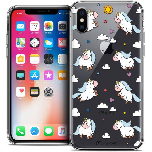 "Coque Crystal Gel Apple iPhone Xs / X (5.8"") Extra Fine Fantasia - Licorne In the Sky"