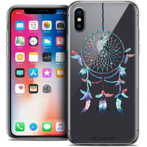 "Coque Crystal Gel Apple iPhone Xs / X (5.8"") Extra Fine Dreamy - Attrape Rêves Rainbow"
