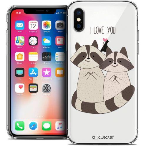 Carcasa Crystal Gel Extra Fina Apple iPhone X (10) Sweetie Racoon Love