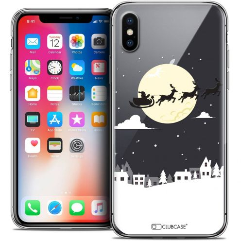 "Coque Crystal Gel Apple iPhone Xs / X (5.8"") Extra Fine Noël 2017 - Flying Stanta"