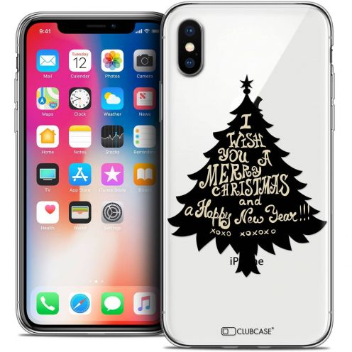 Carcasa Crystal Gel Extra Fina Apple iPhone X (10) Noël 2017 XOXO Tree