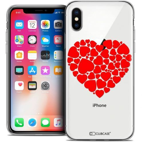 "Coque Crystal Gel Apple iPhone Xs / X (5.8"") Extra Fine Love - Coeur des Coeurs"